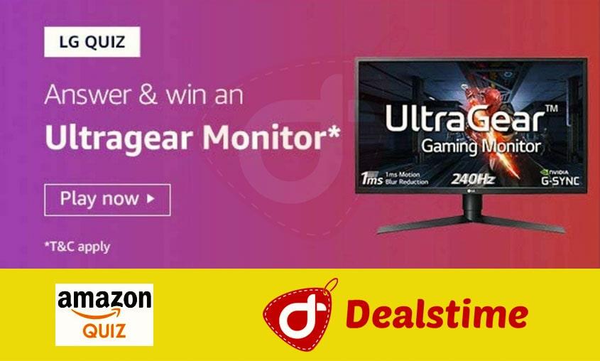 Amazon LG Quiz Answers & LG Ultragear Monitor (4 Winners)