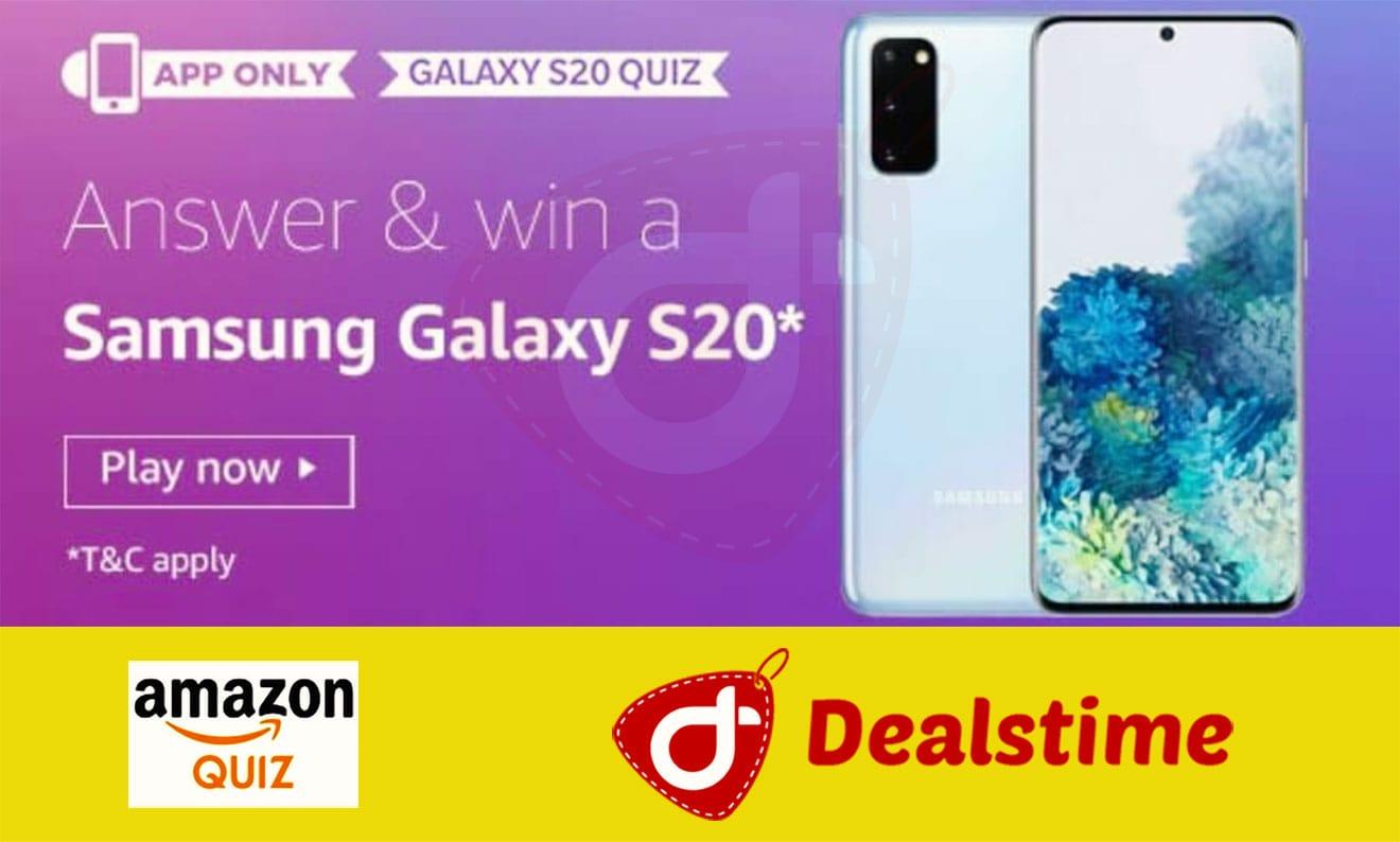 Amazon Samsung Galaxy S20 Quiz Answers & Win Samsung Galaxy S20 (3 Winners)