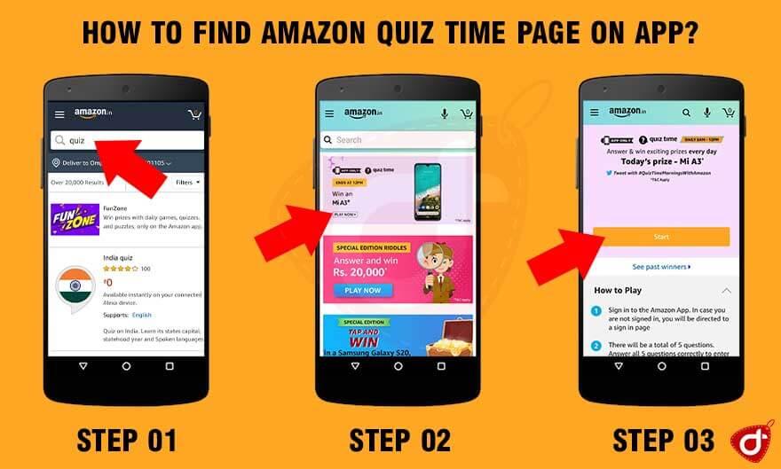 Amazon Quiz Answers & Win Mi A3 Smartphone – 10 June 2020, 8 AM To 12 PM