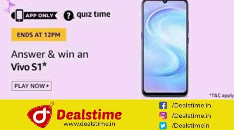 Amazon Quiz Answers & Win Vivo S1 – 14 June 2020, 8 AM To 12 PM