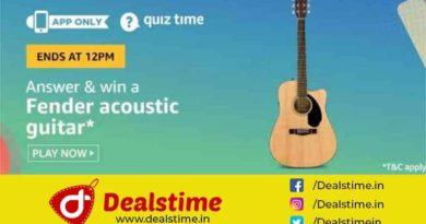 Amazon Quiz Win Fender Acoustic Guitar