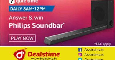 Amazon Daily Quiz Answers & Win Philips soundbar - 08 Sep 2020 8 AM To 12 PM